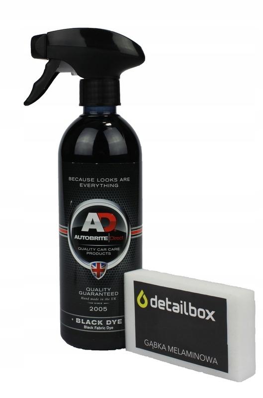 AUTOBRITE Black Dye 500ml Farba Plastiki Dywaniki