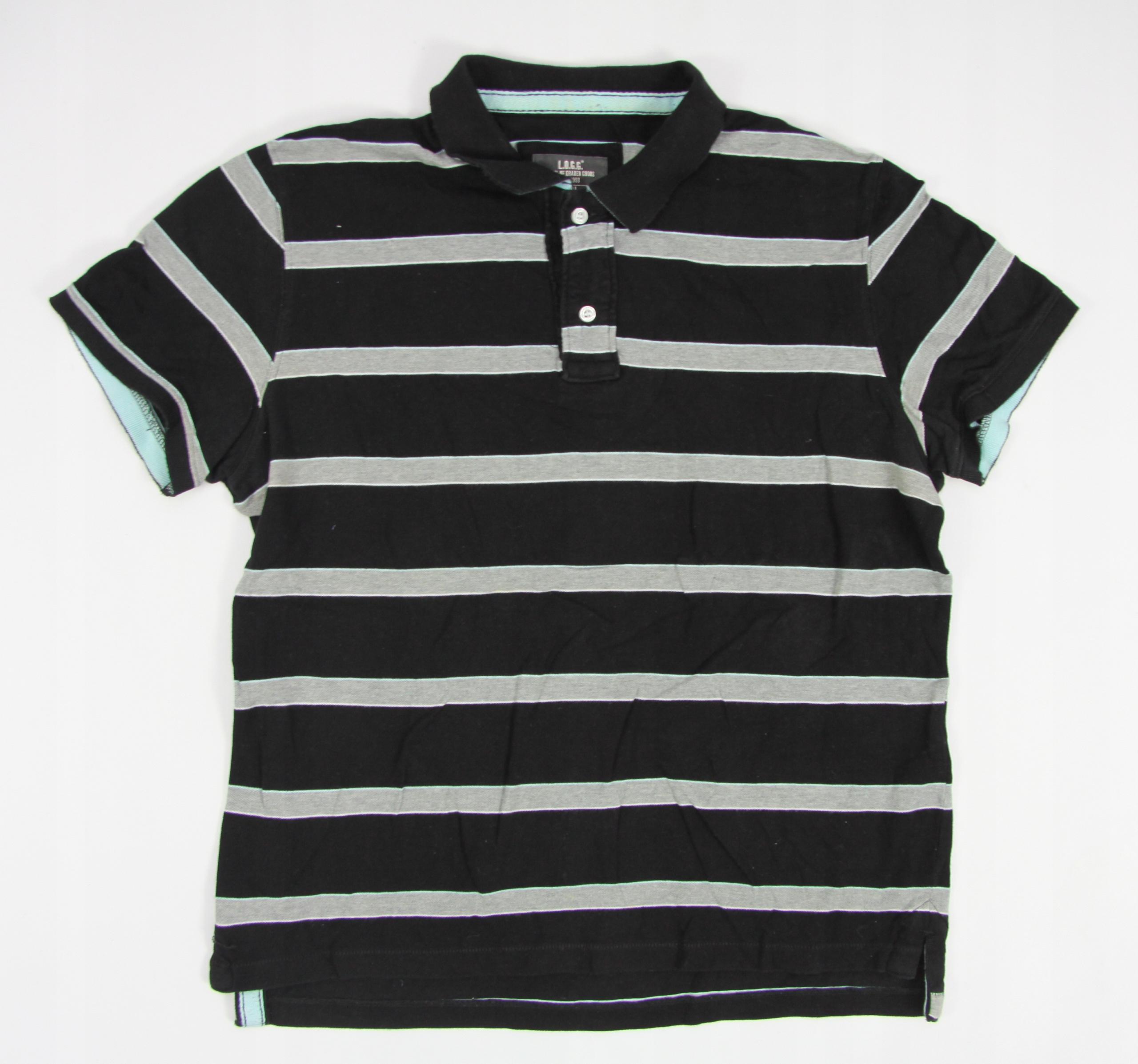 H&M koszulka polo męska 100% bawełna CZARNA L
