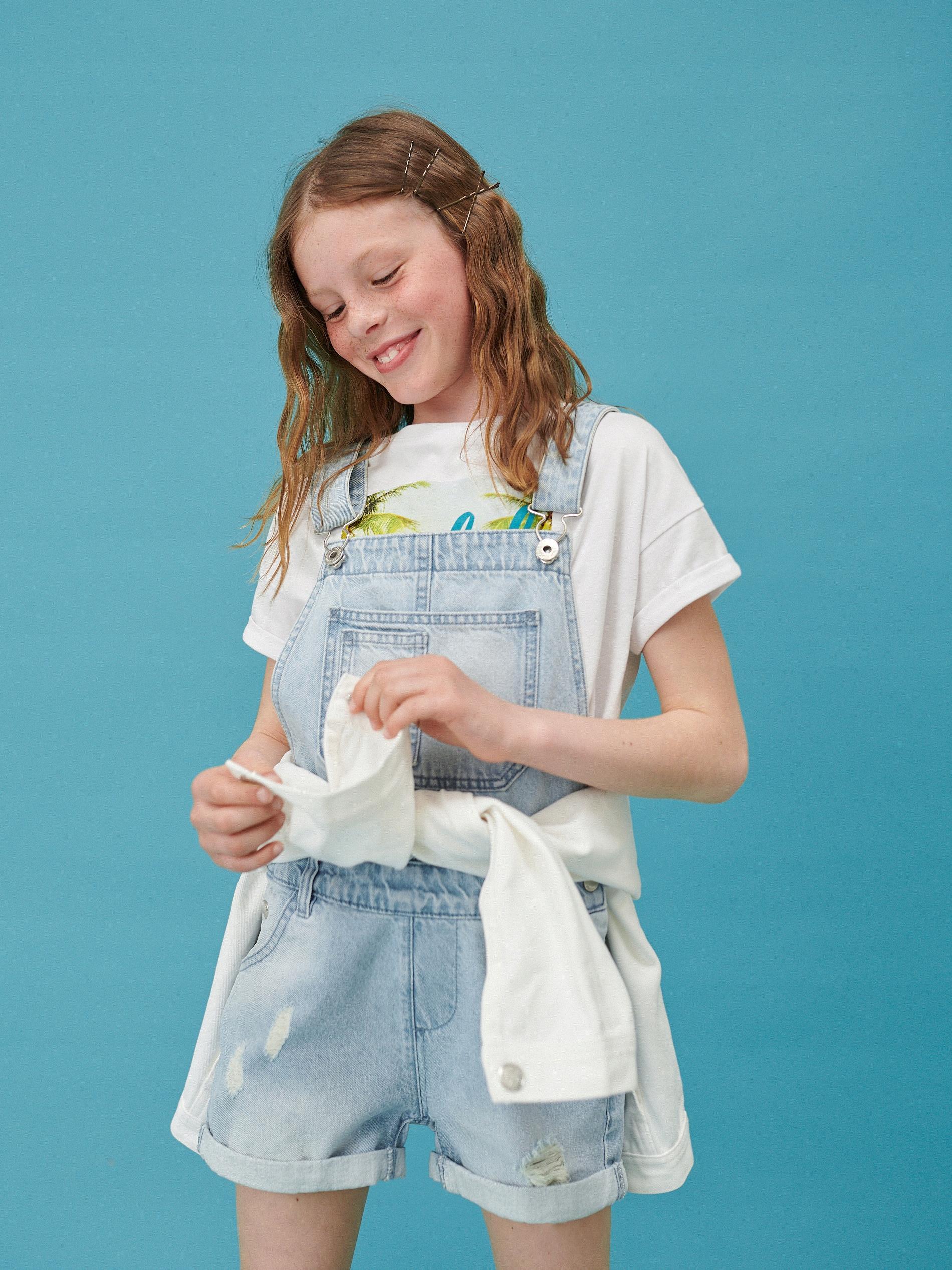 RESERVED spodenki ogrodniczki jeans r 146 NOWE