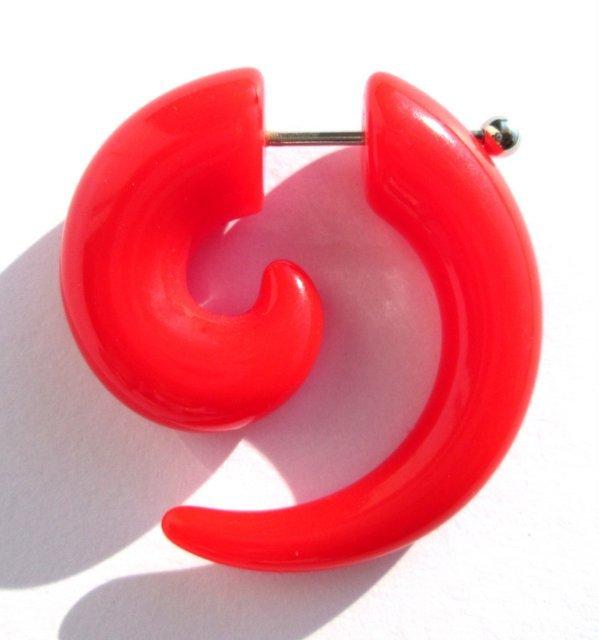 Fake plug CZERWONY (oszukana spirala) 8mm