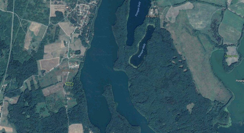 Działka rekreacyjna w Gulbitach nad jeziorem Narie