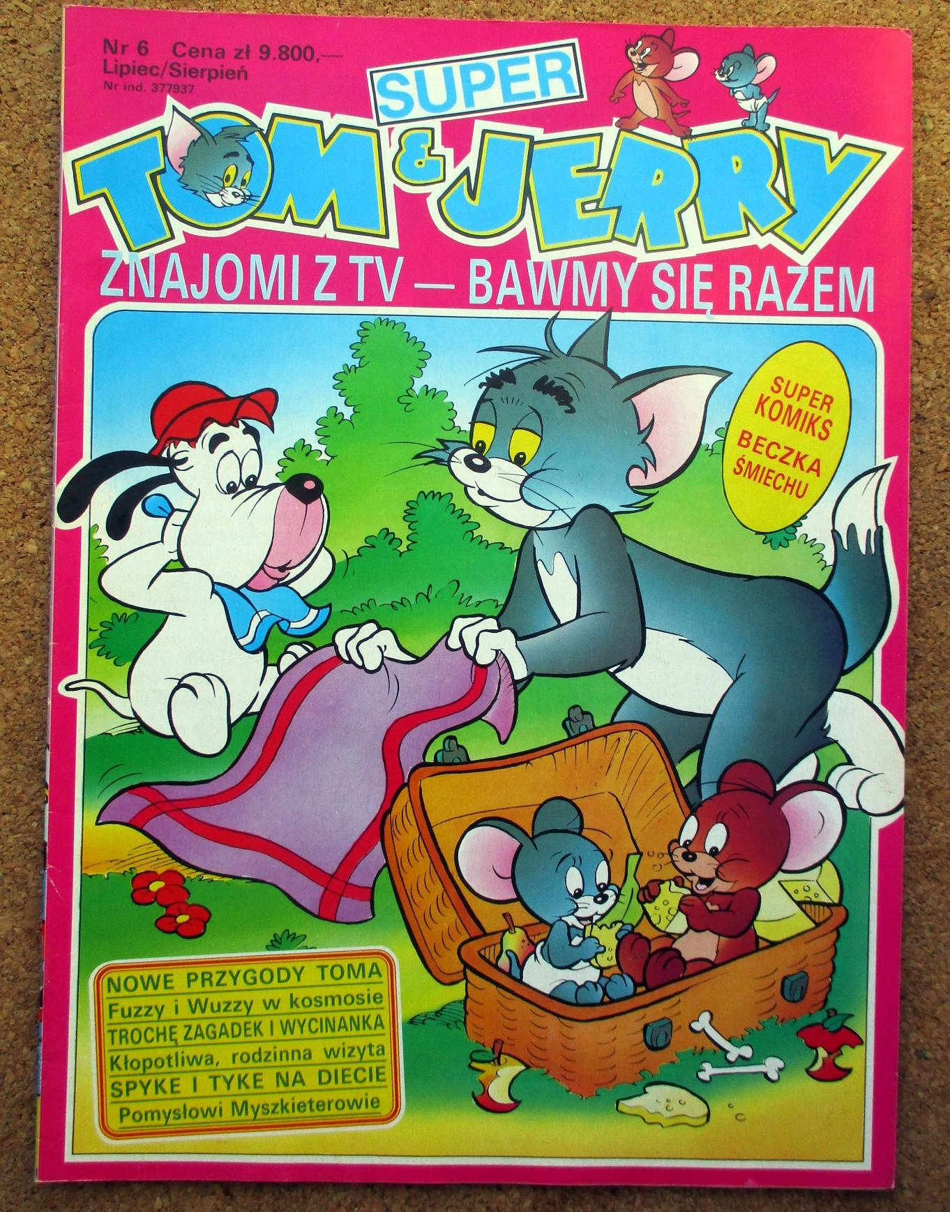 SUPER TOM & JERRY 6 STAN BDB A4 KOMIKS I