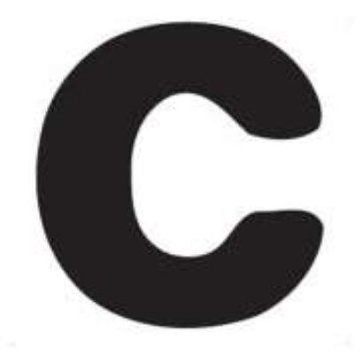 Znaczki ABC do fotelika Yepp Literka C
