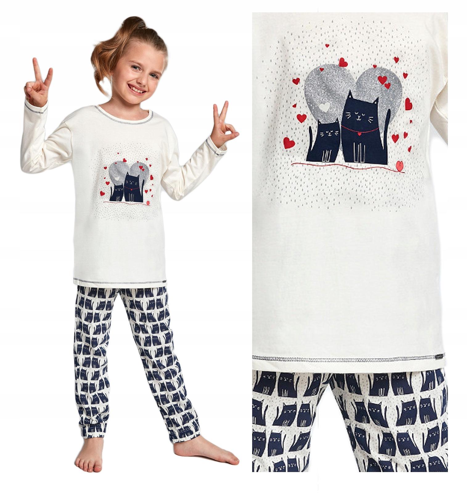 piżama dziewczęca CORNETTE 975/94 KOTY - 134/140