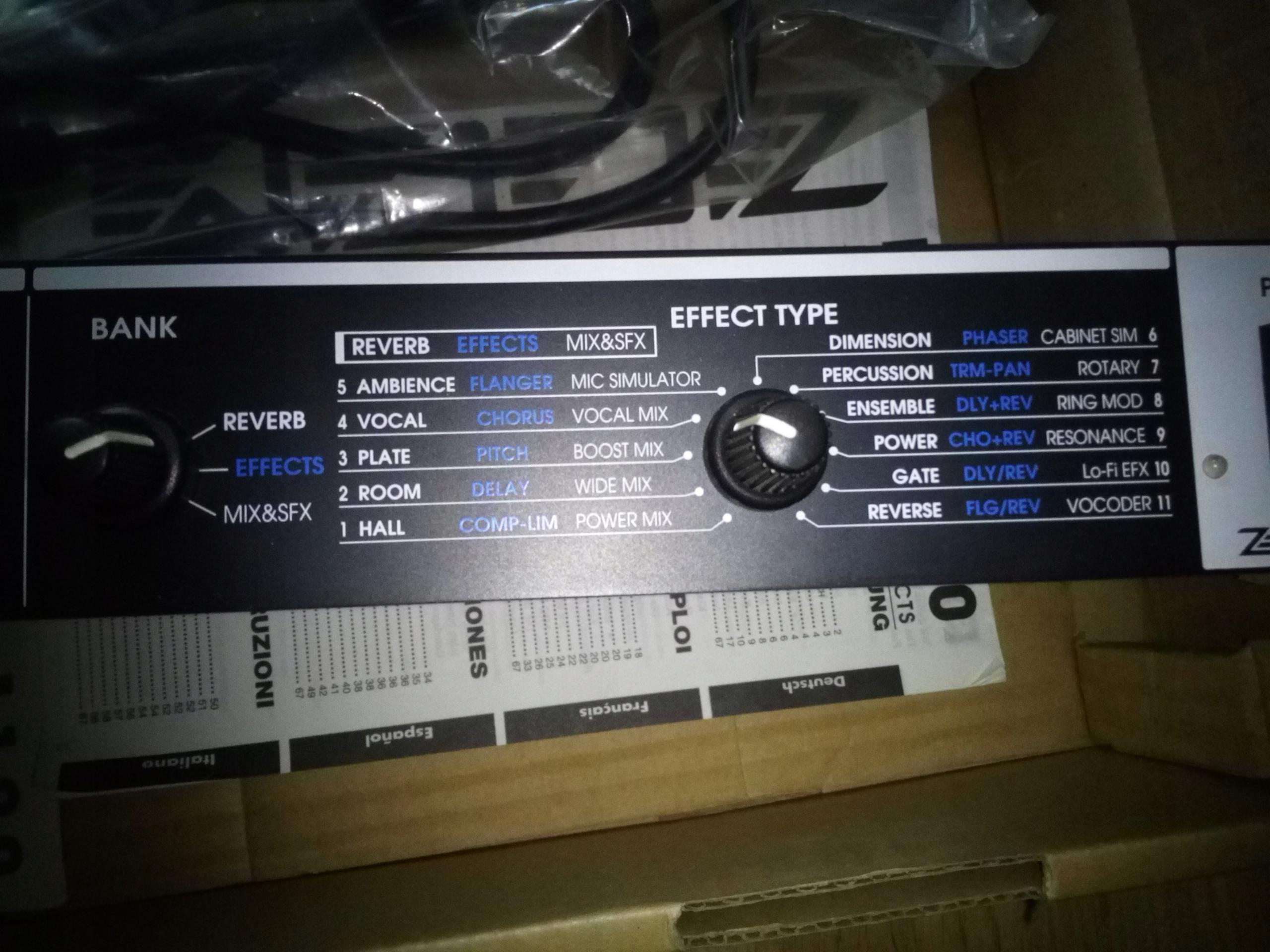 Efekt wokalny Digital Reverb+Multi Efect RFX 1100
