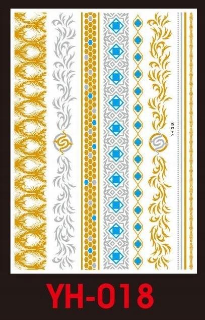 Tatuaże metalic złote srebrne FLASH TATTO YH-018