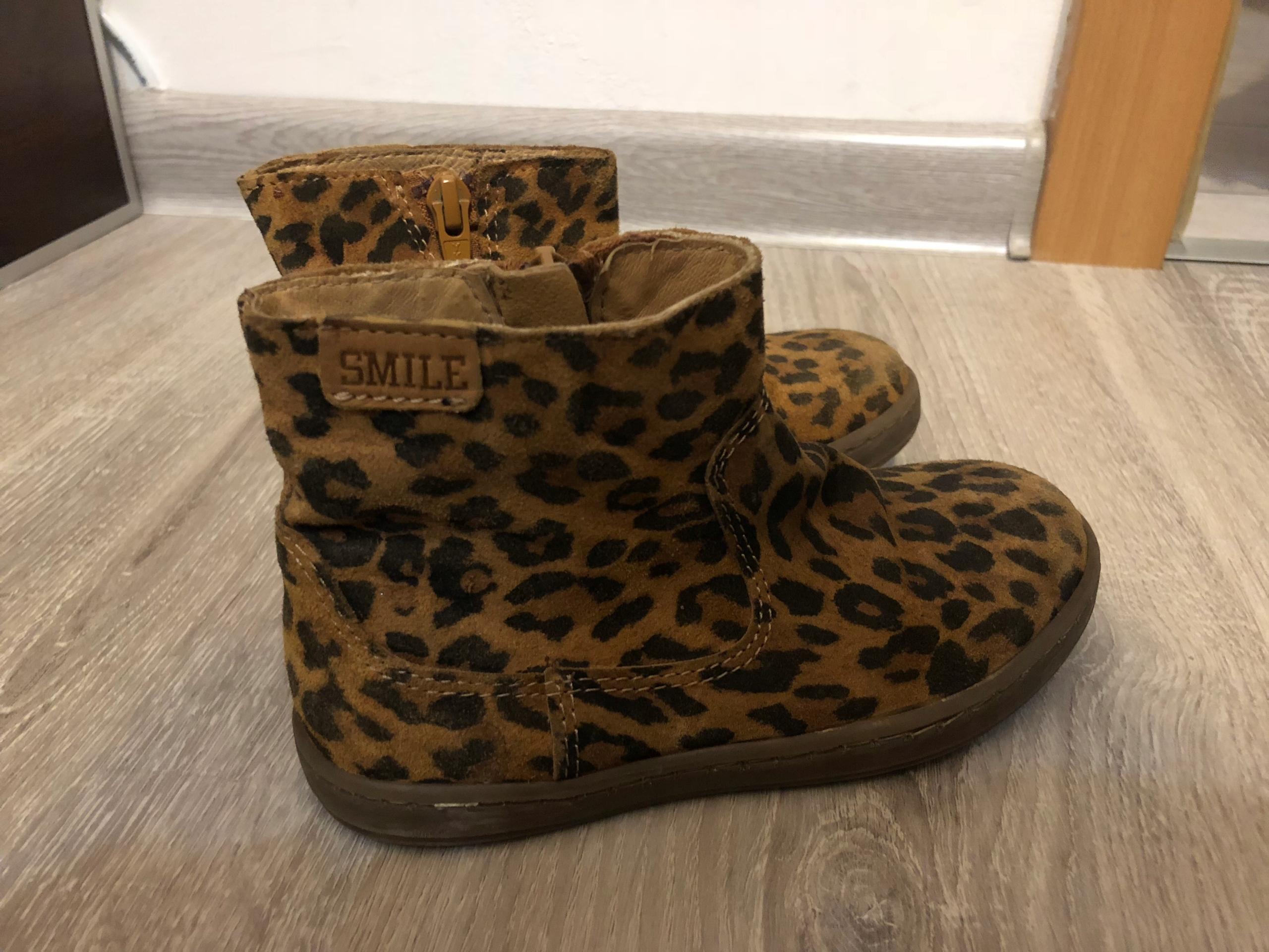 Skórzane botki dla dziewczynki 28 buty kozaki