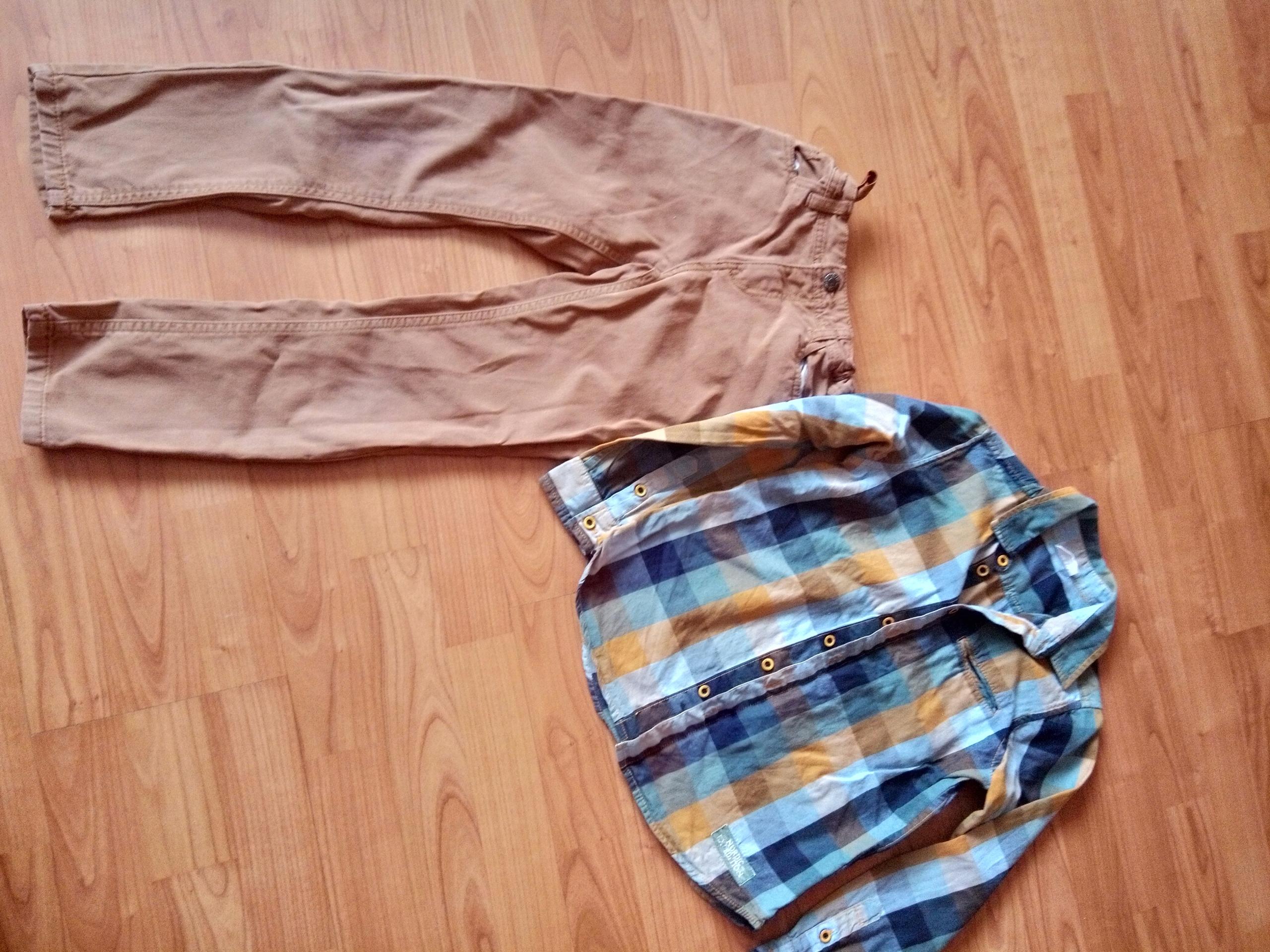 Spodnie i koszula coccodrillo 134