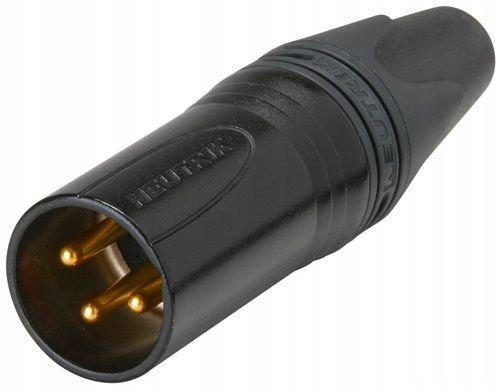 Neutrik NC3MXX-B złącze kablowe męskie złocone