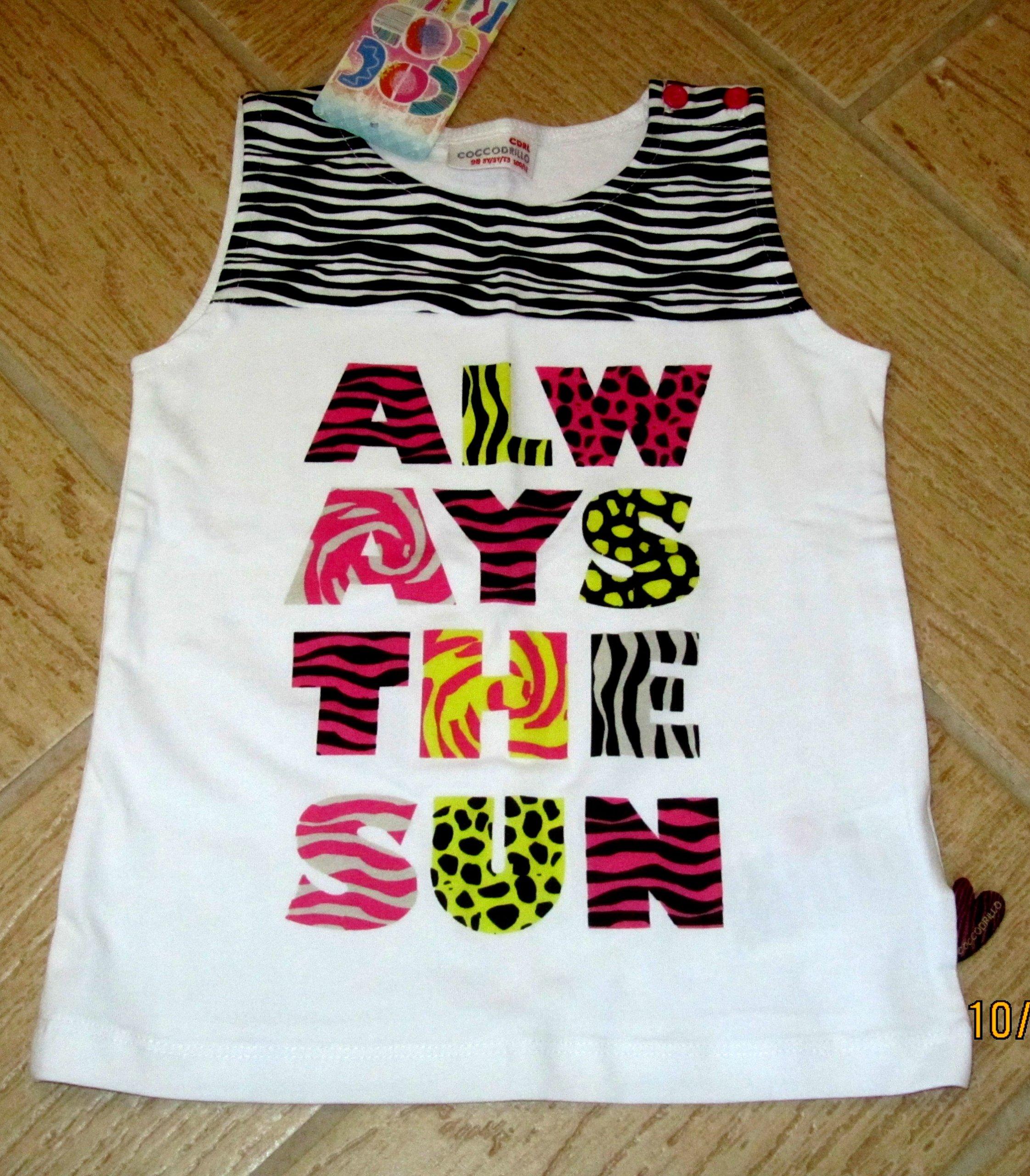 NOWY t-shirt 98 Coccodrillo 3latka zebra