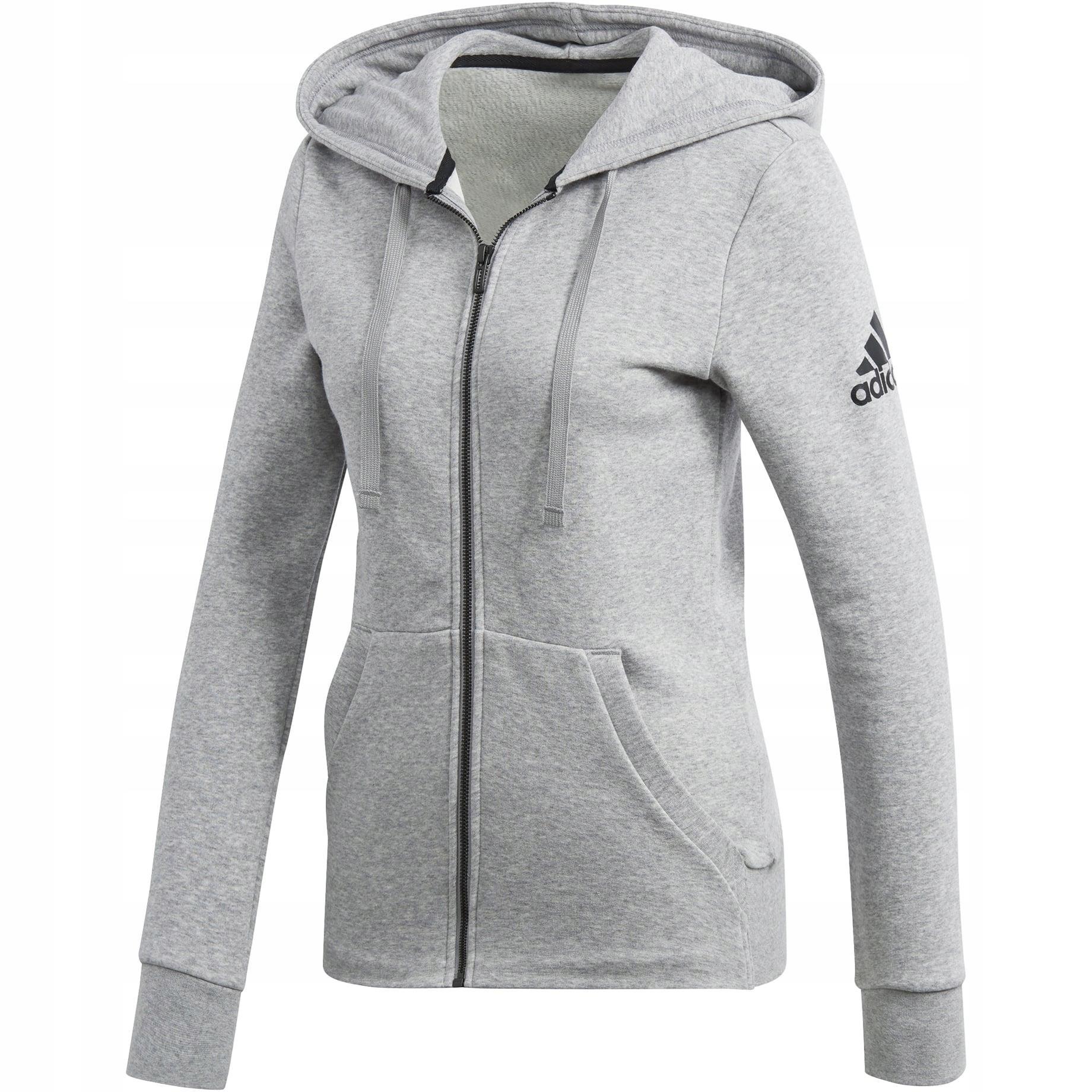 Adidas Bluza Damska z kapturem rozpinana szara S97086