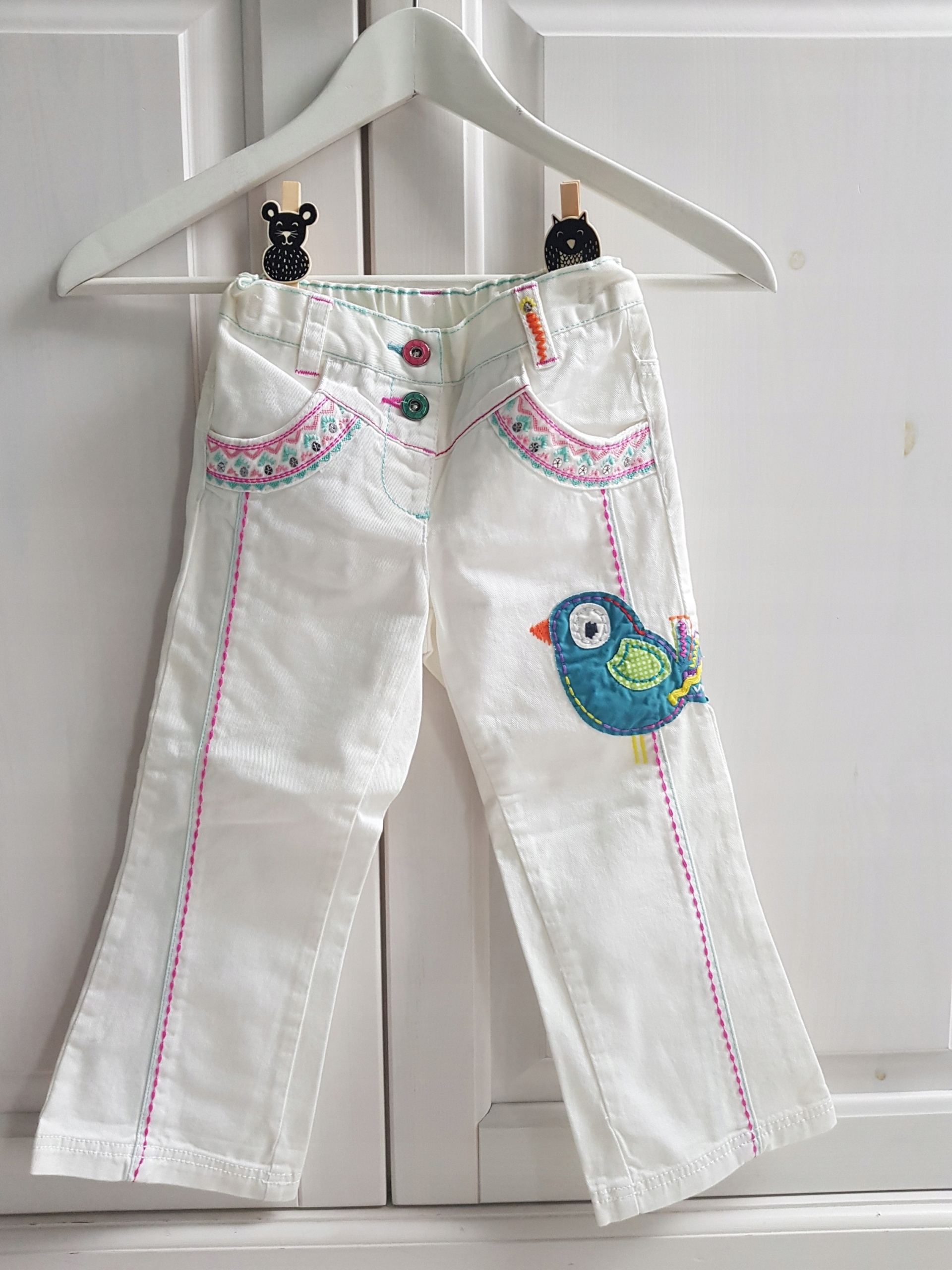 Next spodnie białe 104 CM 3-4 LAT