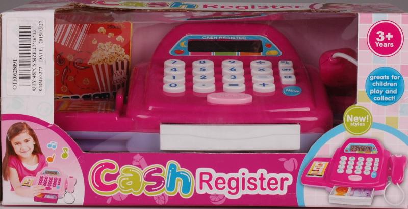 KASA z kalkulatorem czytnik sklep pieniądze róż wz