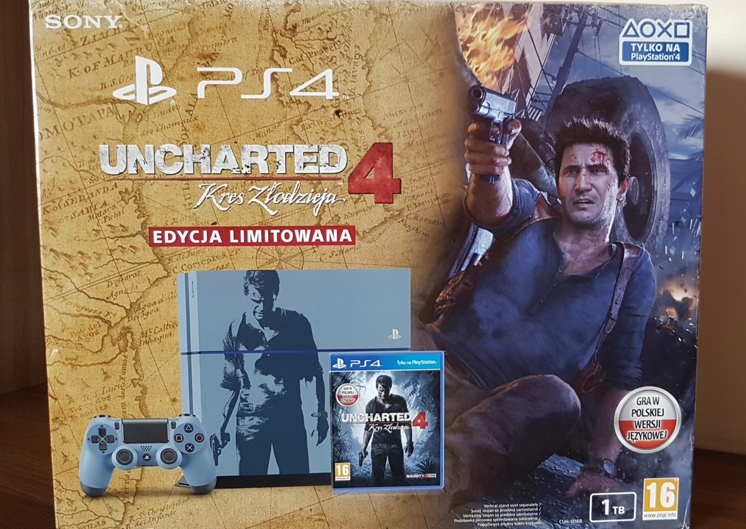 ** SONY PLAYSTATION 4 PS4 1TB LIMITED UNCHARTED **