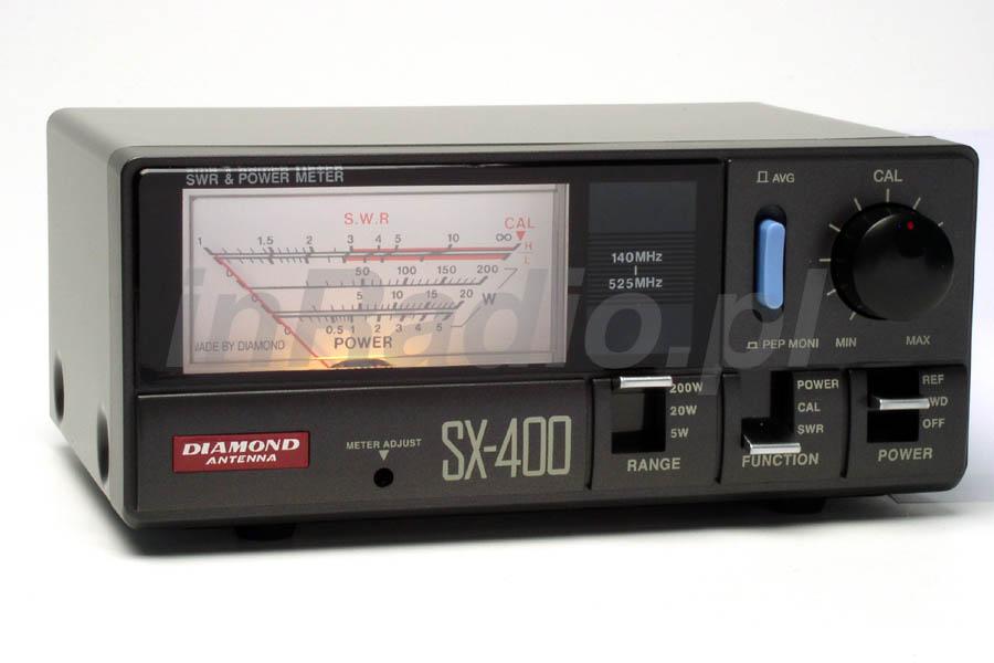Diamond SX-400N reflektometr VHF UHF 140-525 200W