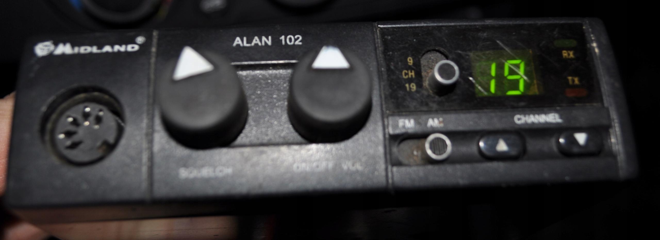 CB Radio Midland Alan 102 gruszka antena Hustler