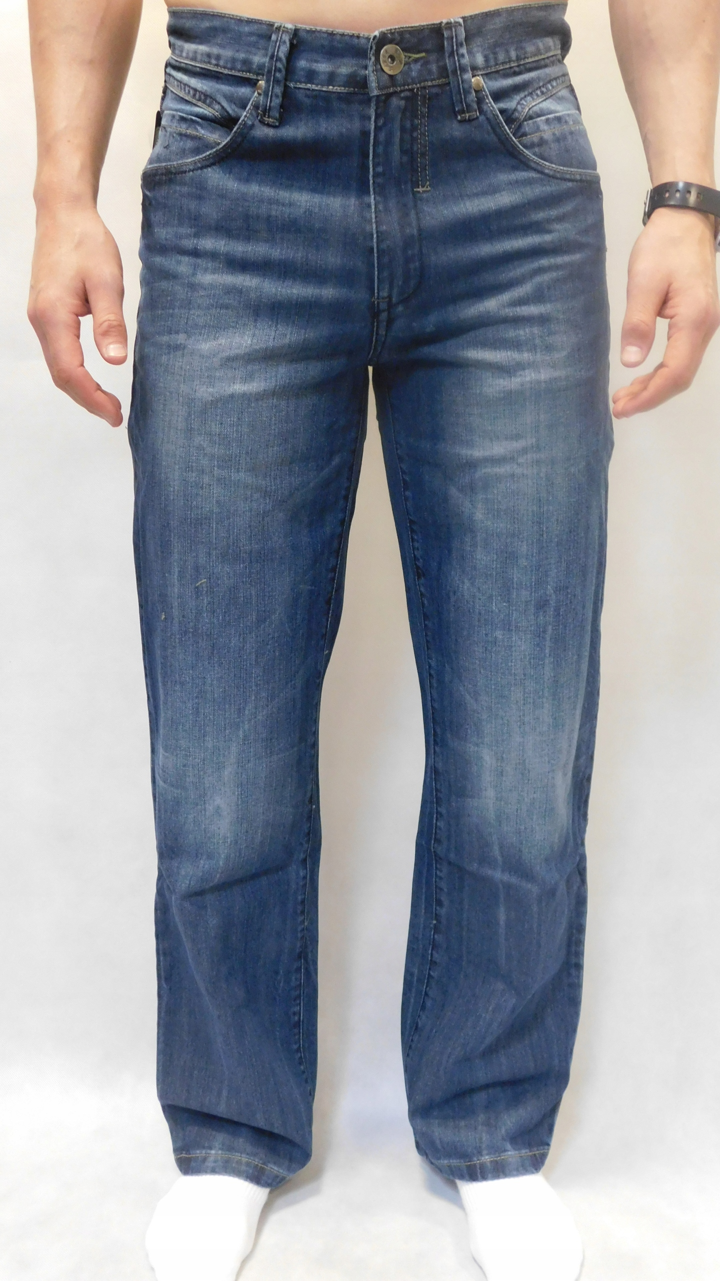 Spodnie męskie jeansowe Sarol 32 pas 82-84 cm