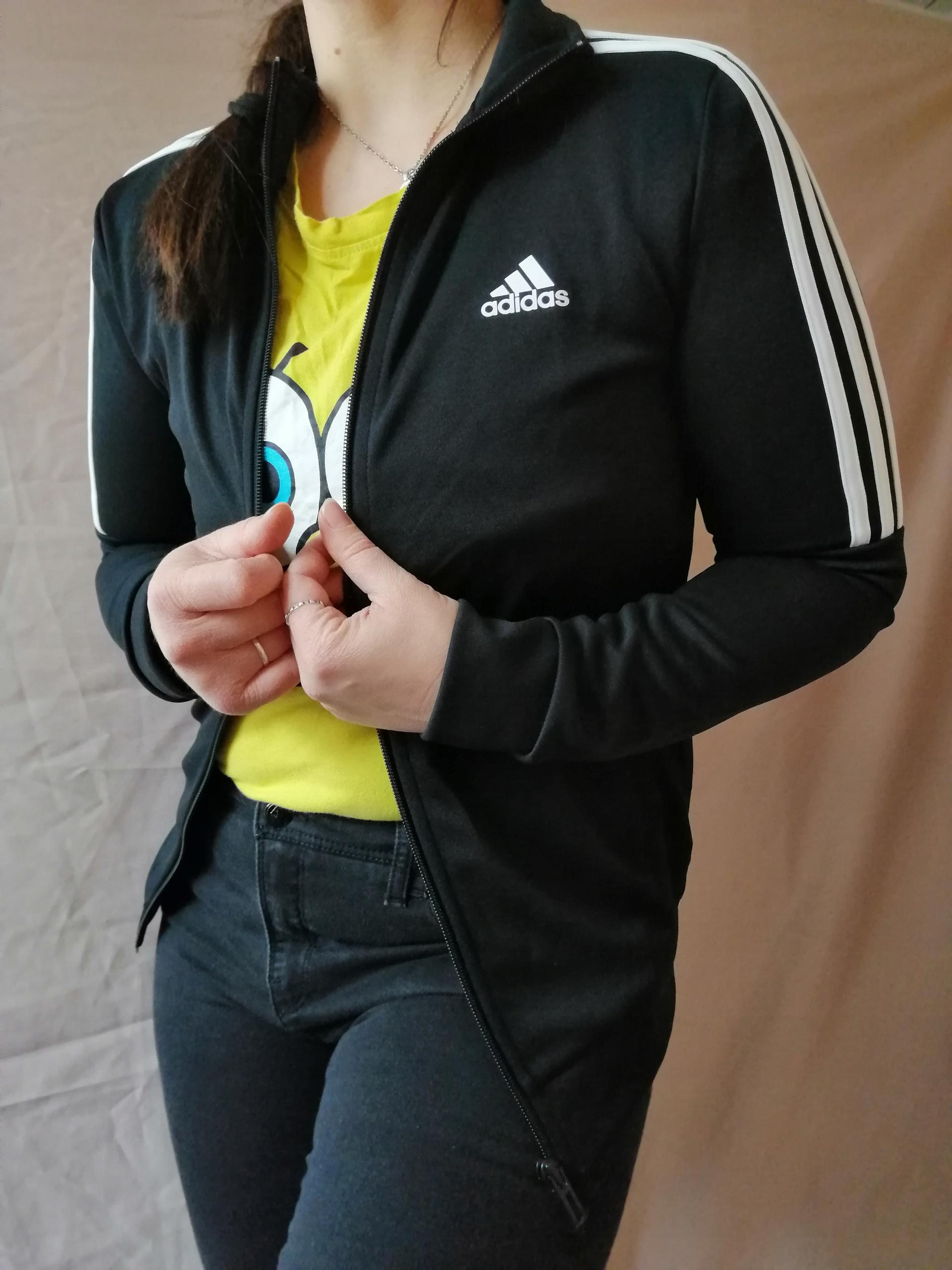 ADIDAS czarna bluza kurtka SXS 8 10 NOWA