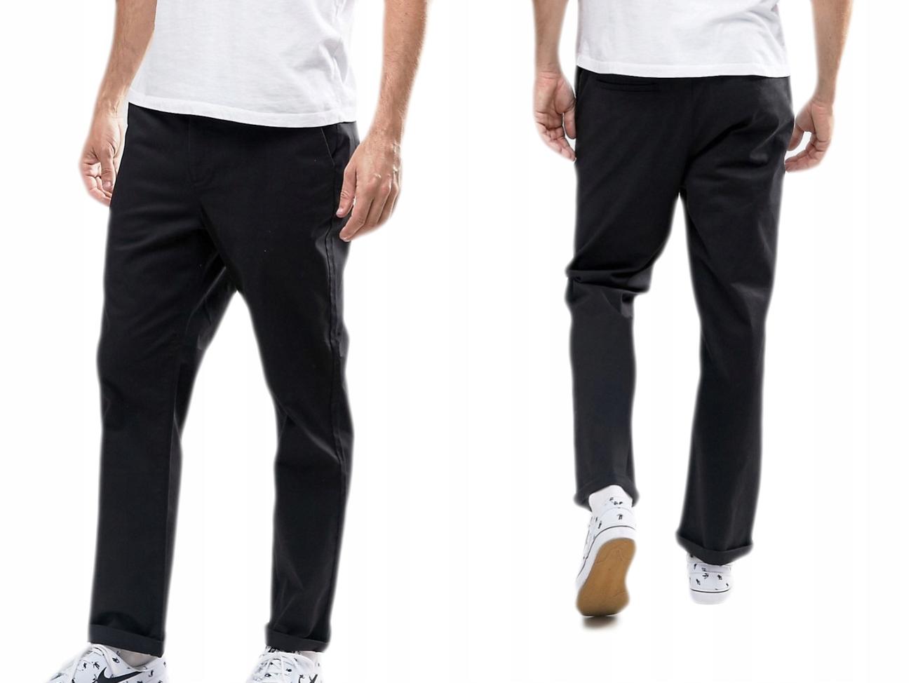 Czarne Spodnie Proste W34/L38