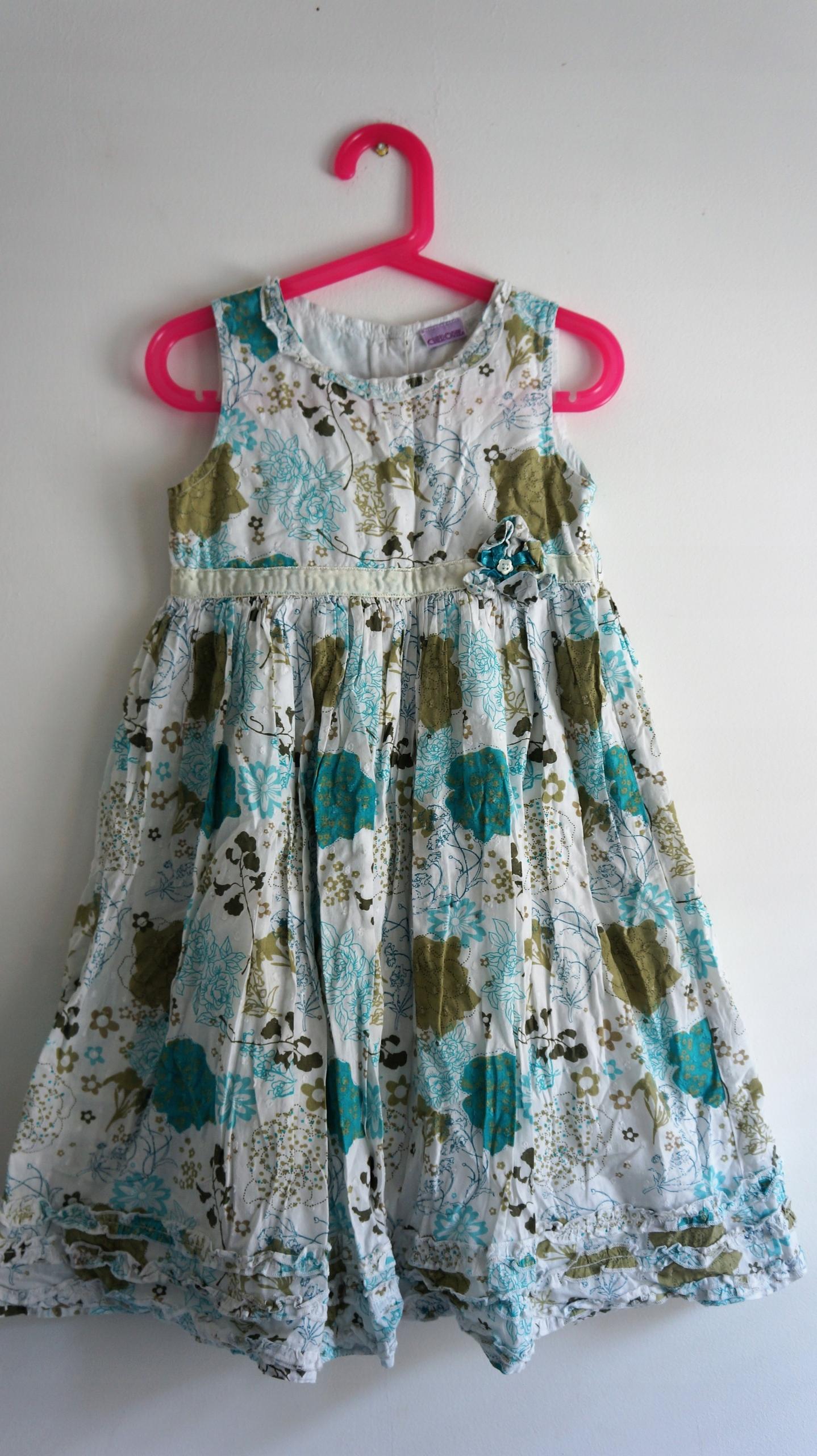CHEROKEE falbaniasta sukienka w kwiaty 5-6 lat 116