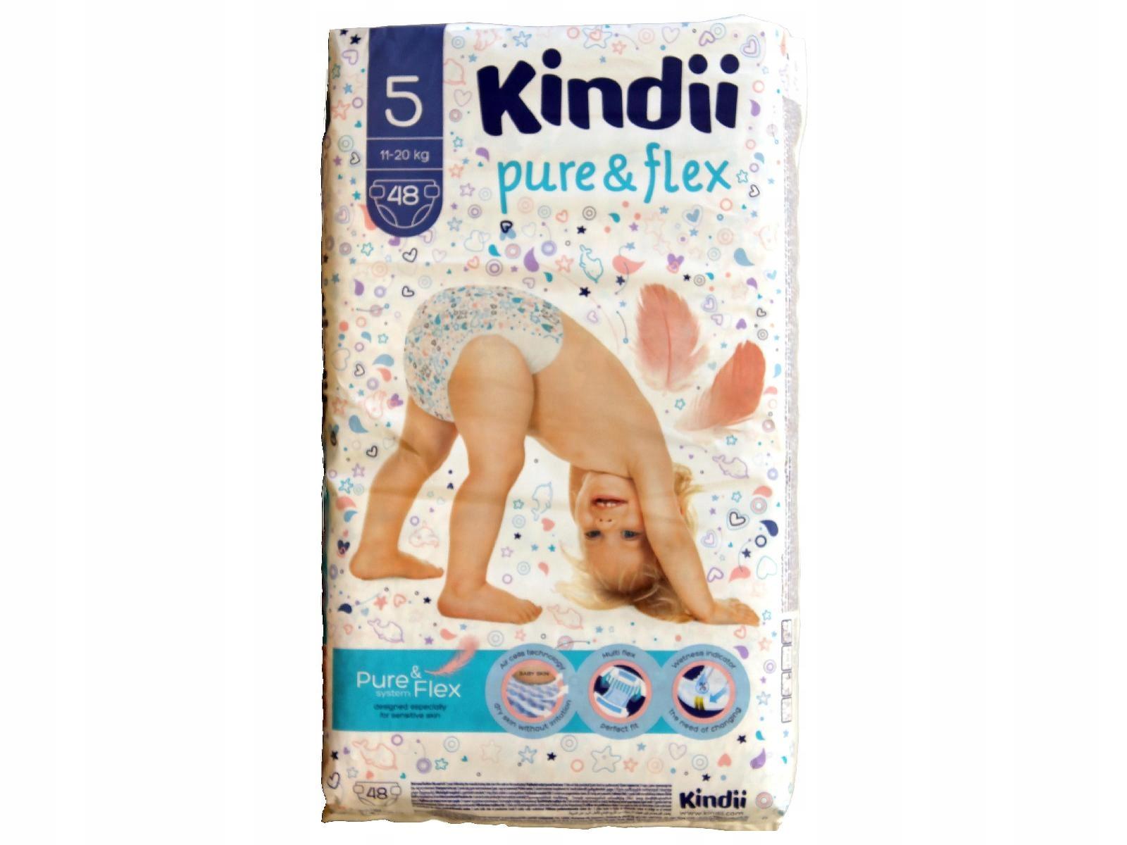 Kindii Pure & Flex Pieluchy 1op.-48szt