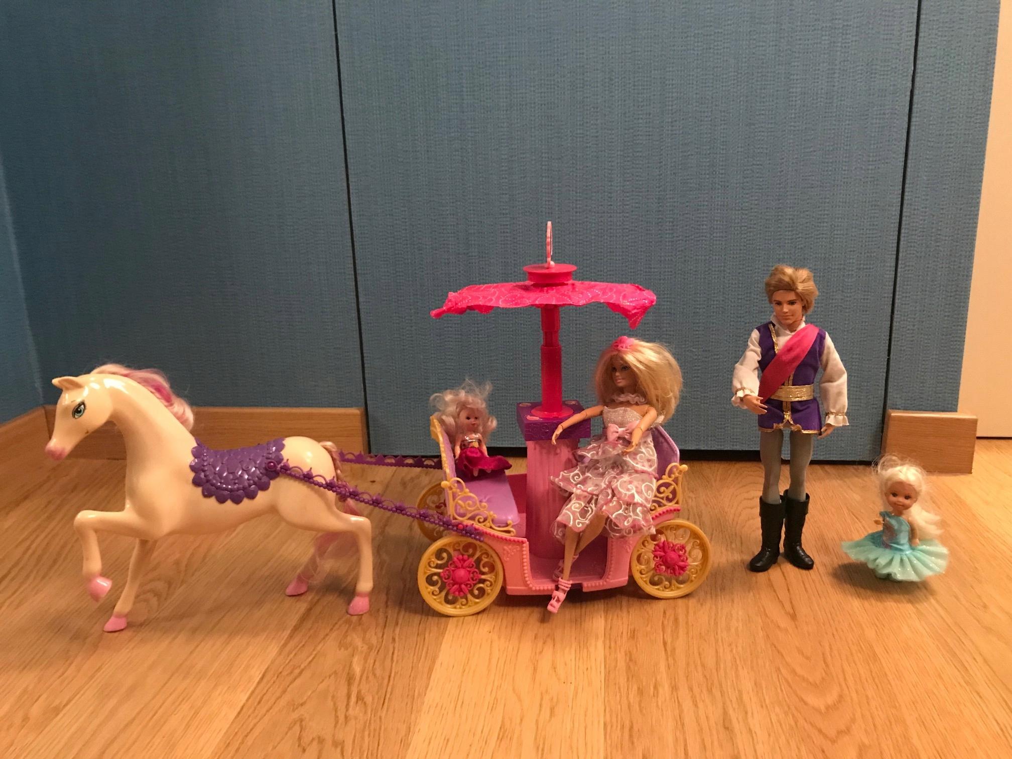 Barbie, Ken, karoca z koniem - super zestaw + inne