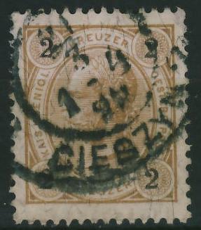 Cieszyn 2 1899 r - stempel na zn.austryjackim