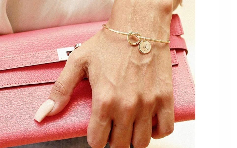 Bransoletka damska na rękę prezent inicjał -S