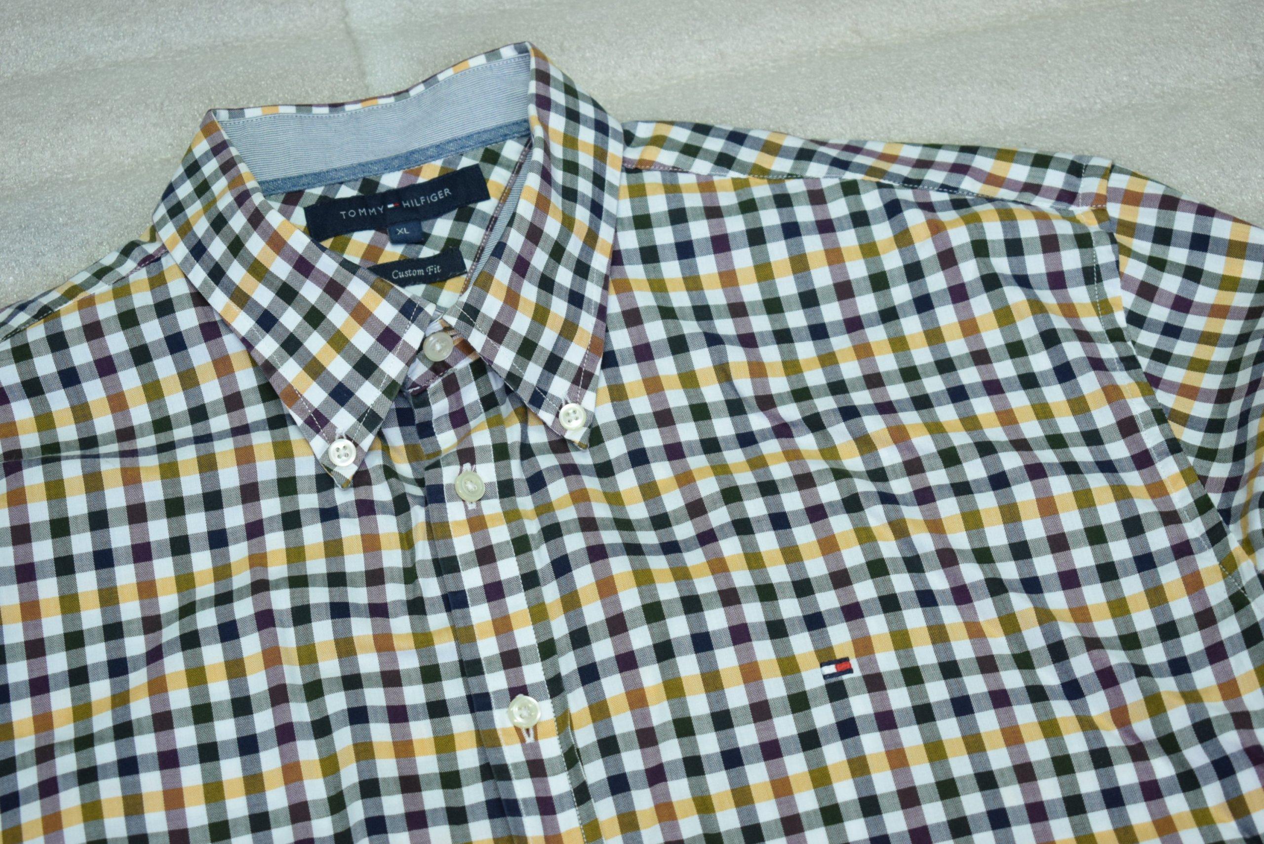 TOMMY HILFIGER SHIRT Koszula Kratka NEW XL^