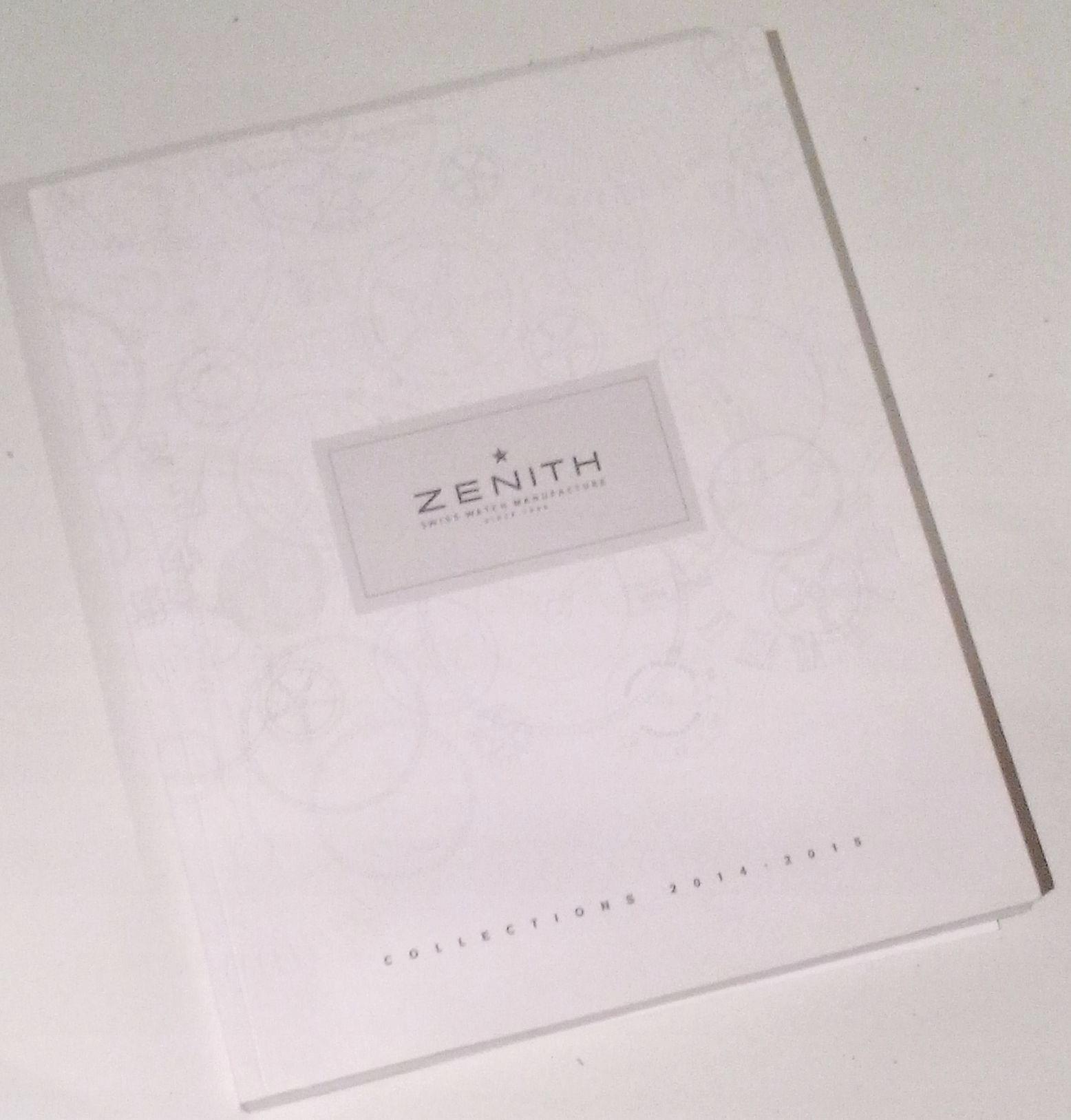 ZENITH katalog zegarków 2014-2015