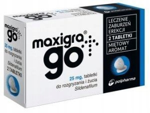 Maxigra Go 2 tabletki 25 mg sildenafil