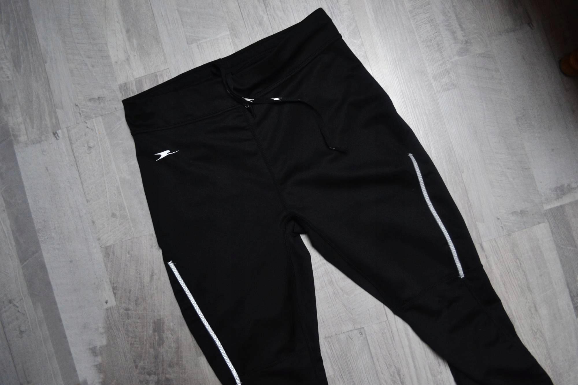 Czarne legginsy Crane sport style