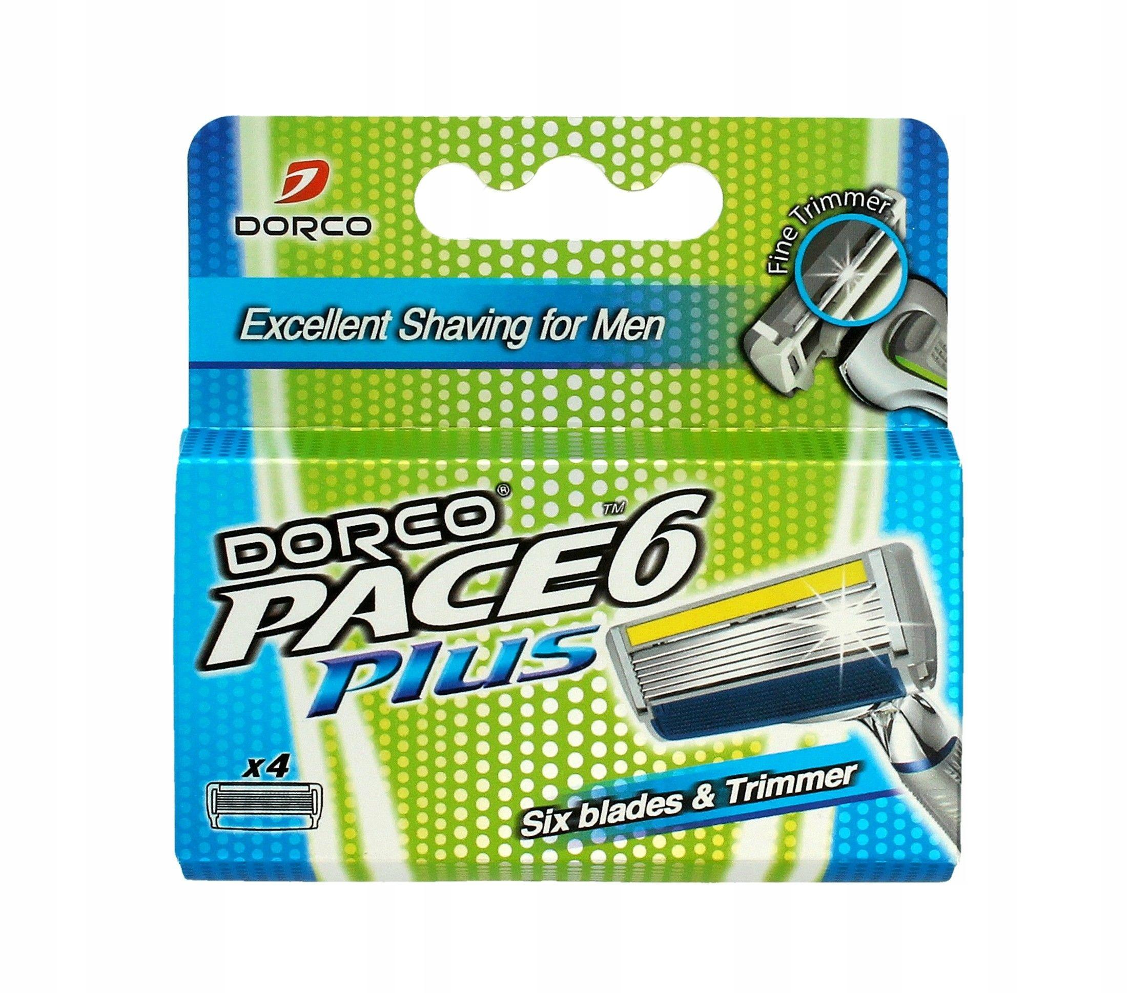Dorco Pace 6 Plus Wkłady do maszynki systemowej mę