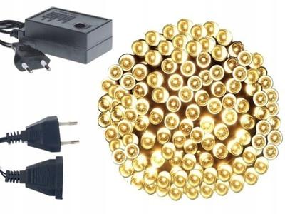 Lampki Choinkowe 100 LED BOX Białe Ciepłe Nowe