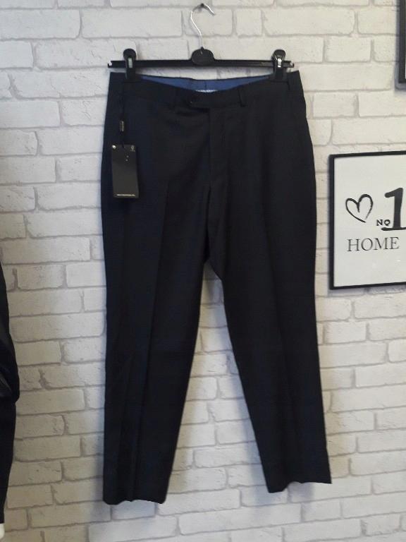 Massimo Dutti spodnie w kant granat 40