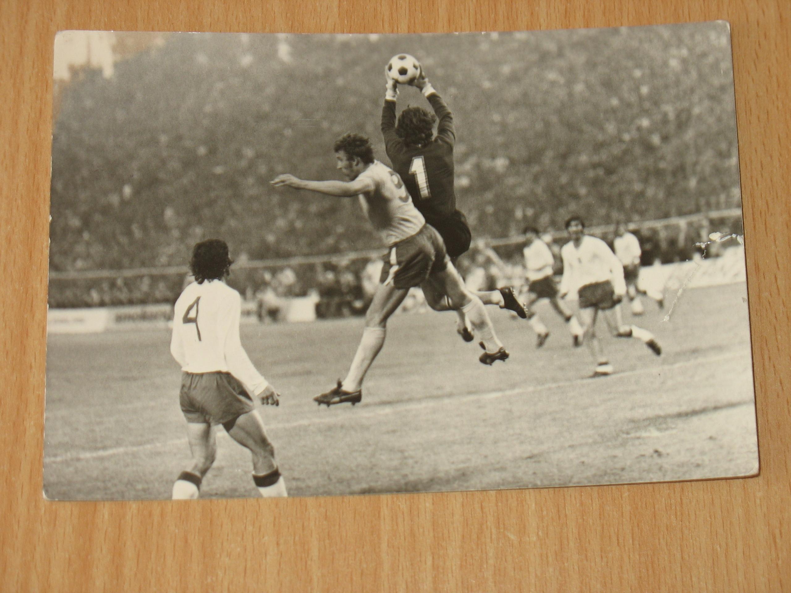 Pocztówka, Polska - Anglia 1973 rok , Tomaszewski