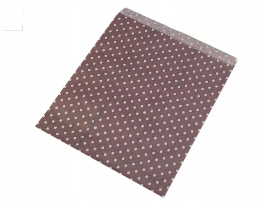 Torebka papierowa 18x22 cm kropeczki 100szt