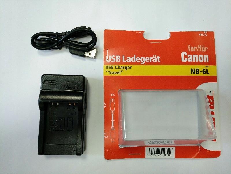ŁADOWARKA PRZENOŚNA HAMA USB 81375 NB 6L CANON