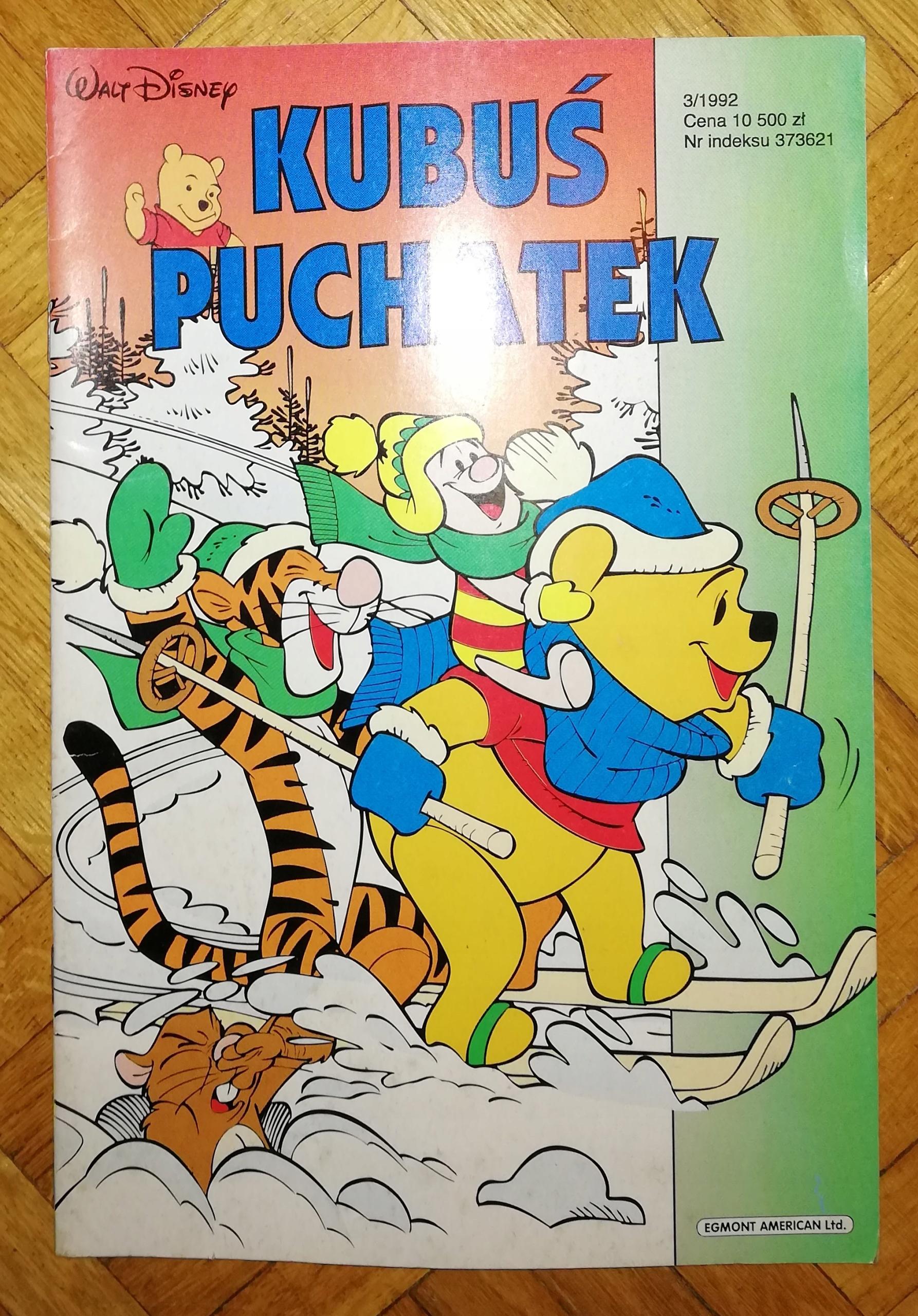 KUBUŚ PUCHATEK 3/1992 3/92 Egmont