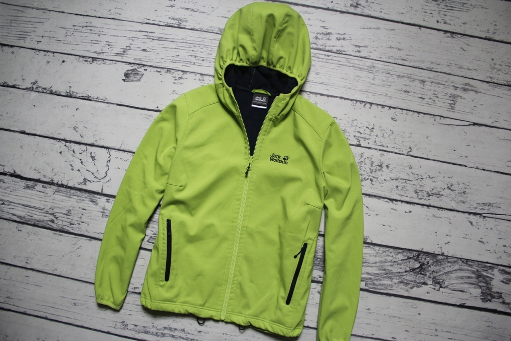 JACK WOLFSKIN OUTDOOR HOODED SOFTSHELL __ L