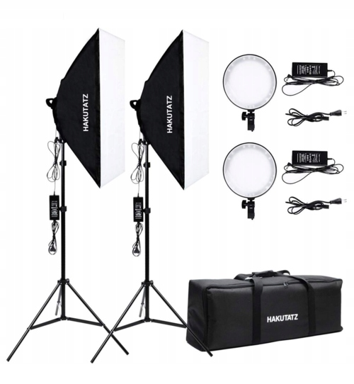 EPOWER ZESTAW SOFTBOX LAMPA LED STATYW 50X70CM