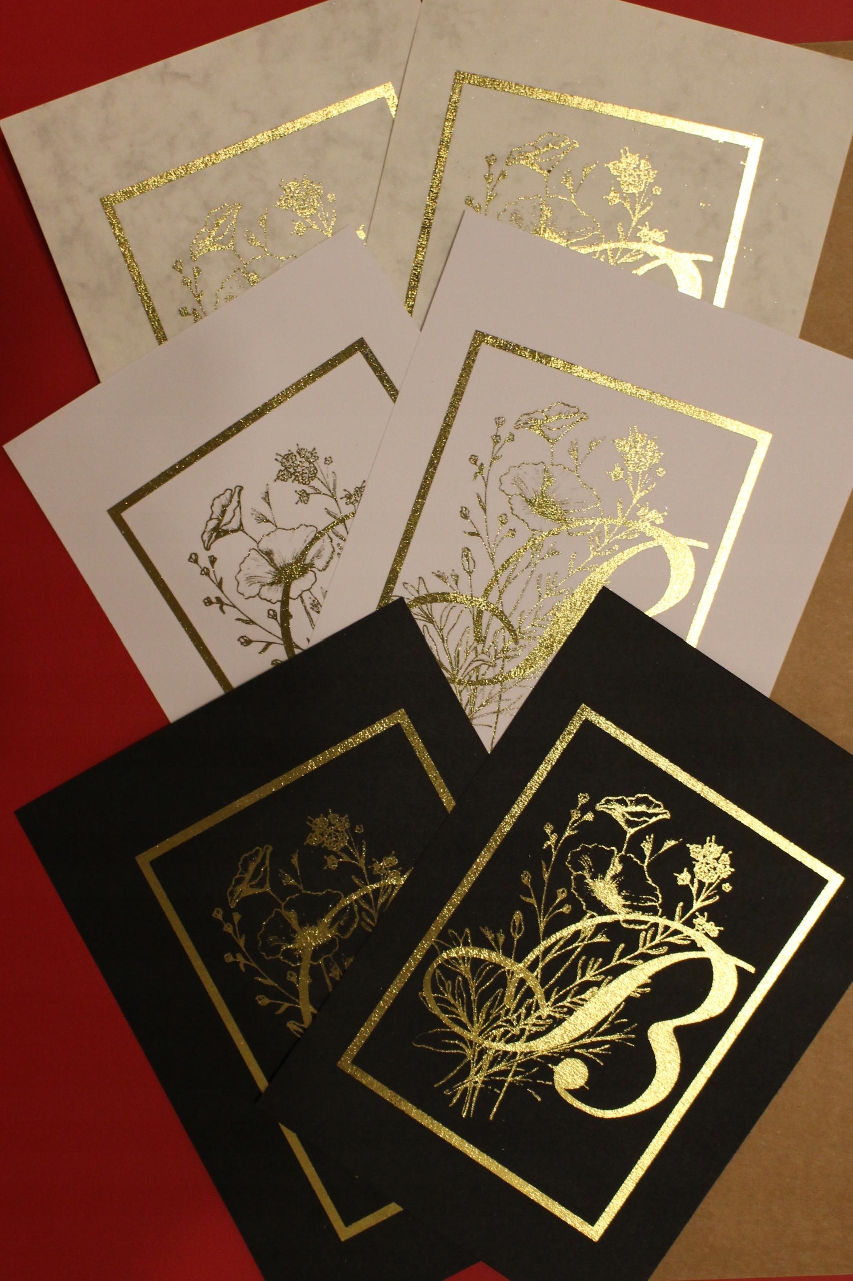 Złoty Plakat A4 Inicjał Na Zamówienie 7698596111