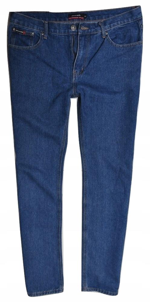 PIERRE CARDIN proste niebieskie dżinsy 34