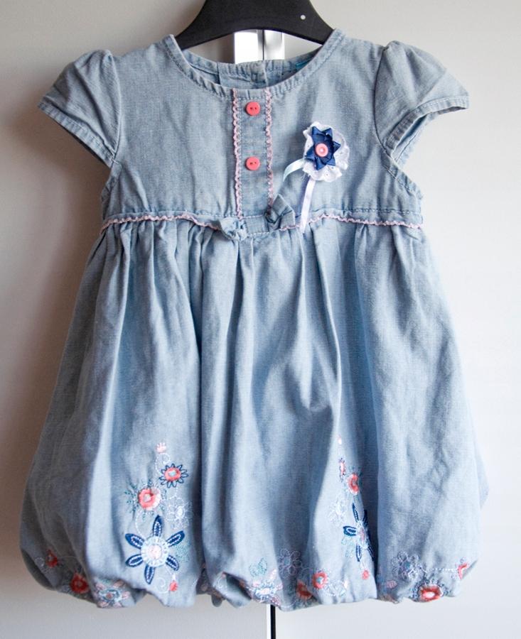 Sukienka jeans niemowlęca CoolClub rozm. 86 12-18m