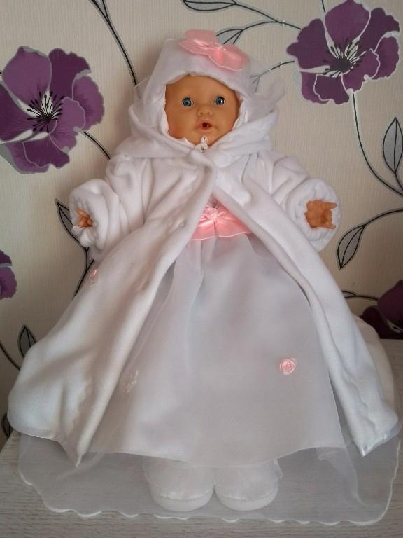 Sukienka do chrztu -komplet