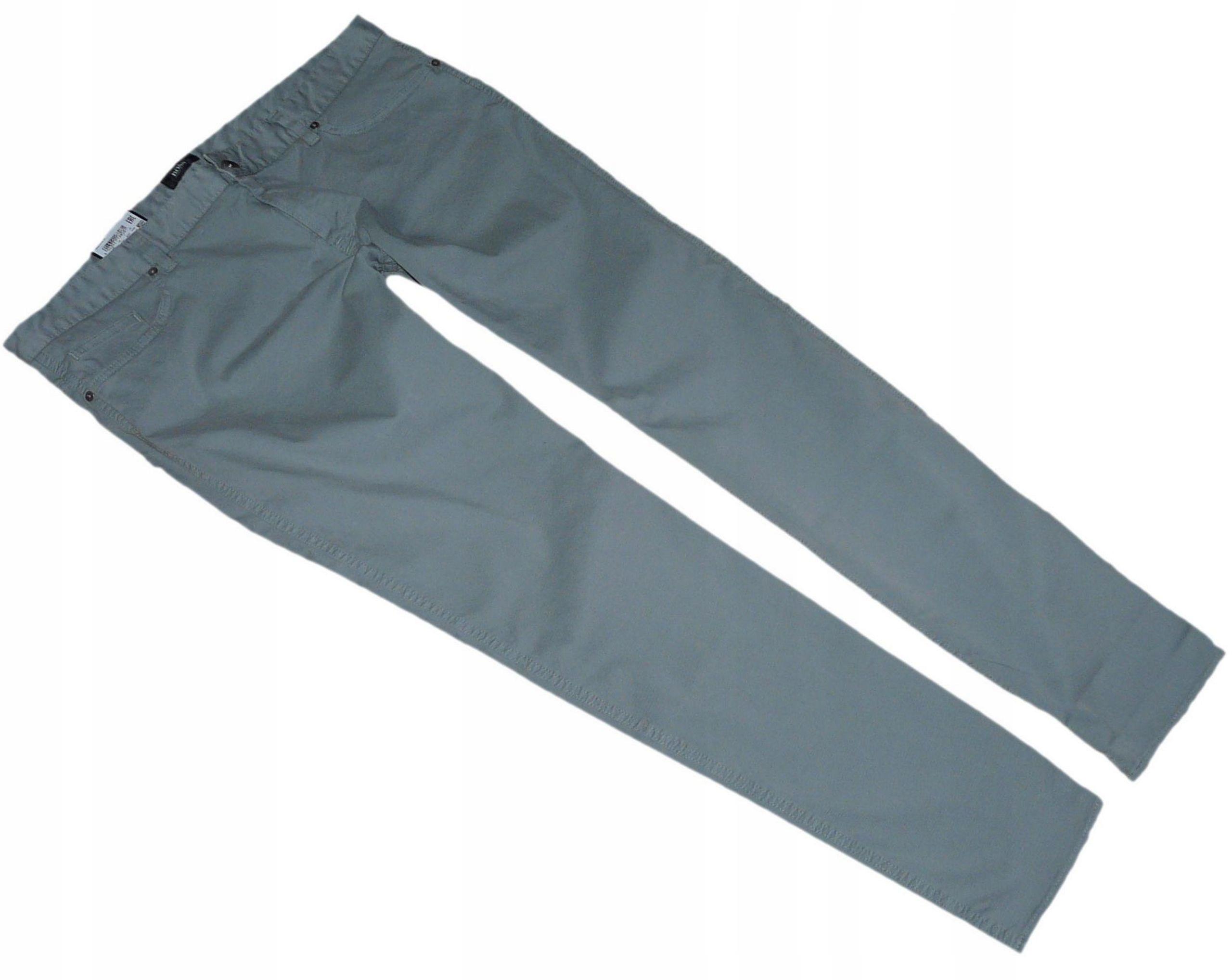 HUGO BOSS spodnie szare chinosy SLIM FIT W40L32