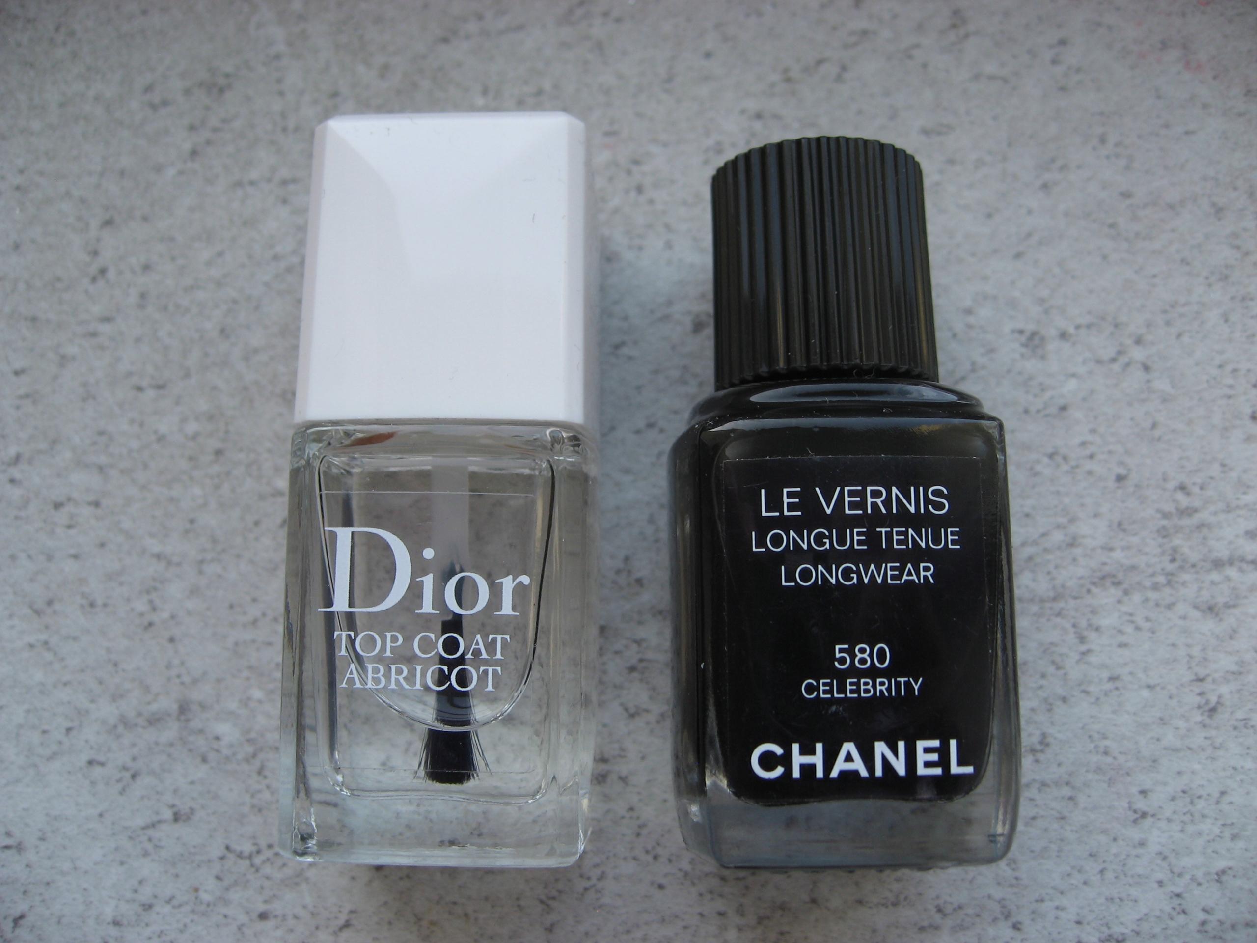 Chanel Le Vernis 580 + Dior Top Coat lakiery zest.