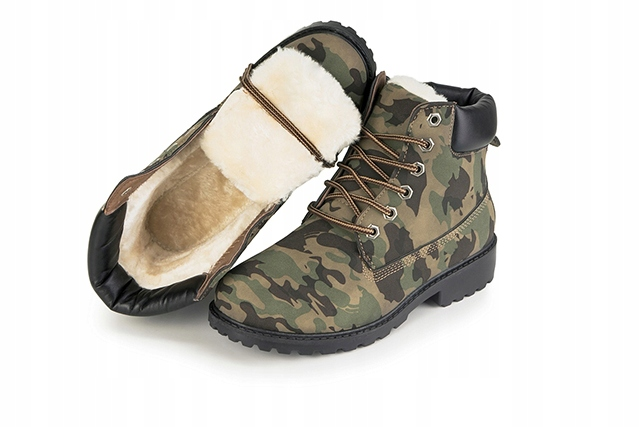 00af0aa8539e0 TIMBERKI TRAPERY futro OCIEPLANE MORO military 40 - 6964085458 ...