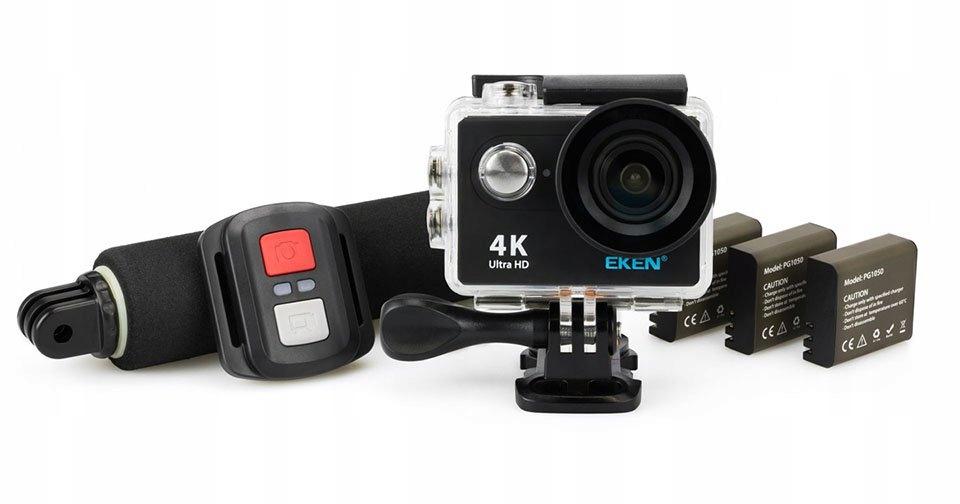 kamera sportowa Eken H10 4 k Nowa zestaw 3x Bat