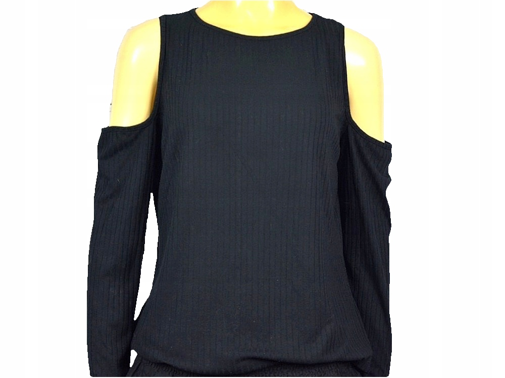 Bluzka długi rękaw odkryte ramiona Elastyczna 40 L